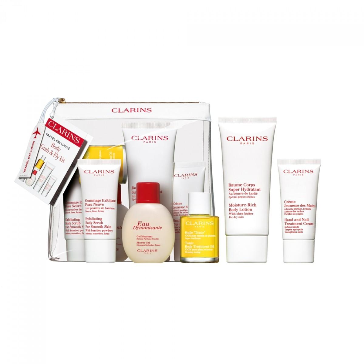 Body Grab Fly Kit Aelia Duty Free Clarins Treatment Oil Tonic 30ml